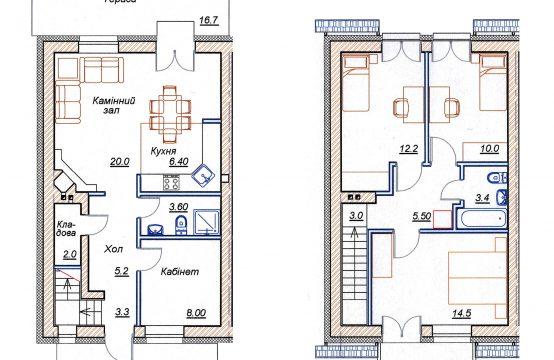 4-х кімнатний таунхаус 4-А