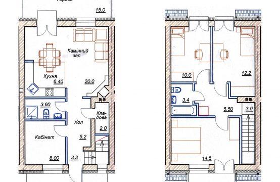 4-х кімнатний таунхаус 4-Б