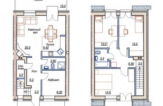 4-х кімнатний таунхаус 4-Г