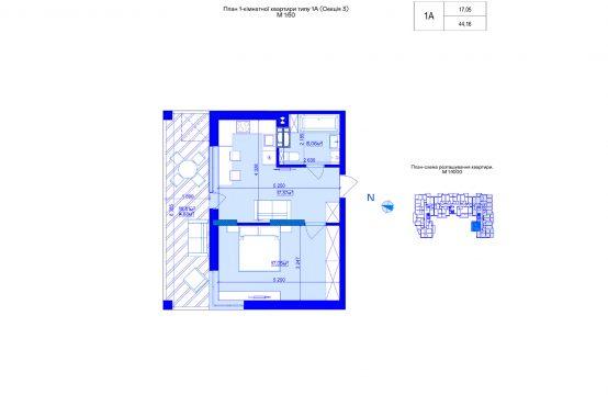 1-кімнатна 1А-3