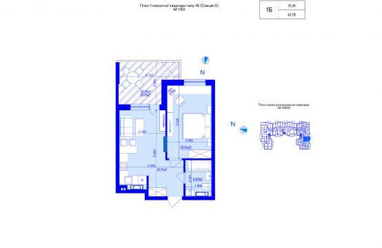 1-кімнатна 1Б-3