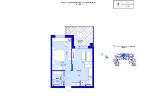 1-кімнатна 1В-2