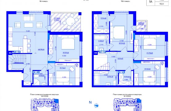 Дворівнева 5-кімнатна 5А-3
