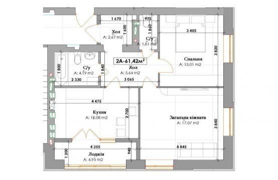 2-кімнатна 2А